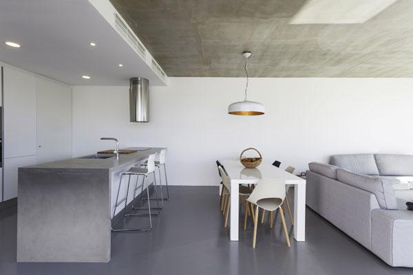 cuisine beton cire