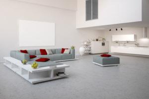 beton lisse salon