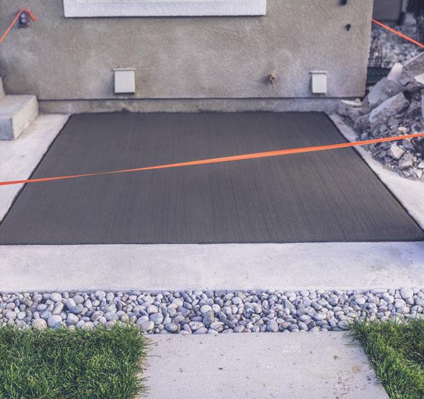 dalle beton en sechage