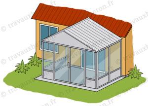 veranda avec dalle beton