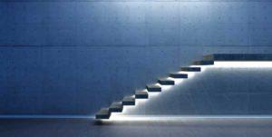escalier beton autoportant