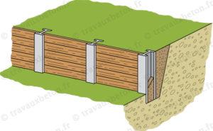 mur de soutenement bois metal