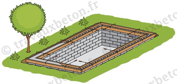 bassin de piscine realise avec des blocs a bancher