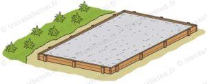 dalle beton exterieur en cours de séchage