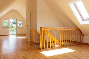 plancher en bois comble aménagé