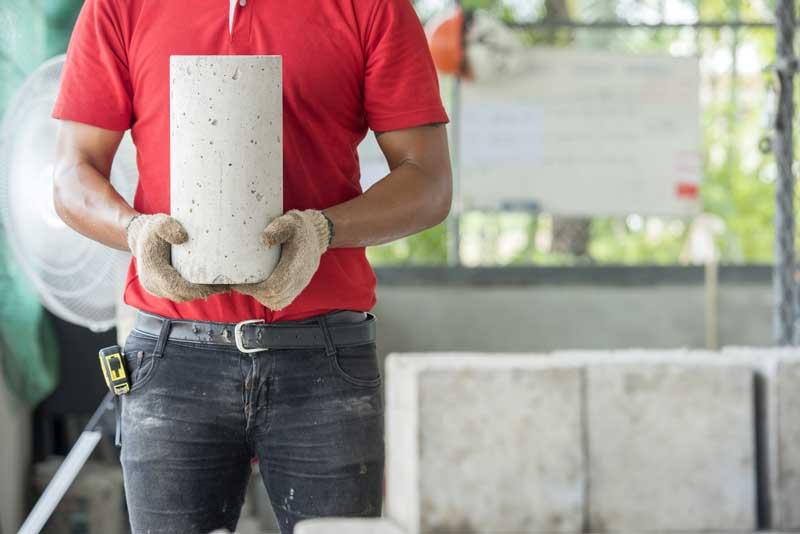résistance béton éprouvette cylindrique