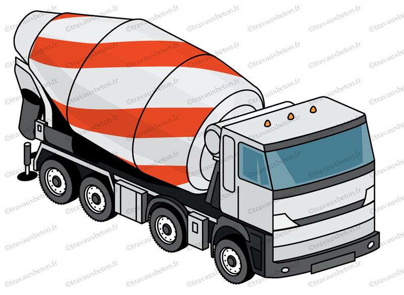 béton livré camion toupie béton