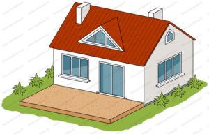béton coloré terrasse avec gravier apparent