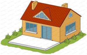terrasse beton blanc maison