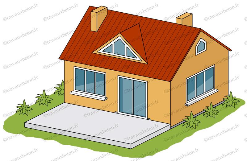 terrasse beton maison