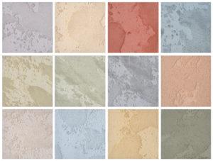 béton coloré échantillon