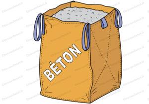 béton sac big bag