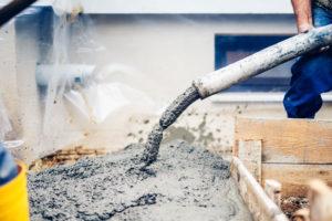 pompage béton chantier pompe à béton