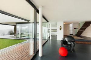 sol béton ciré maison moderne
