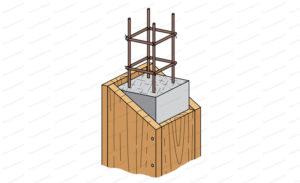coffrage poteau beton