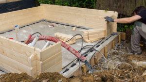 dalle beton pour abri de jardin