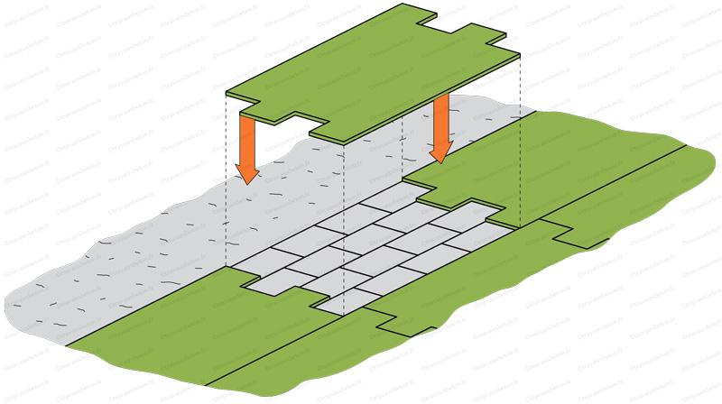 application moule beton empreinte