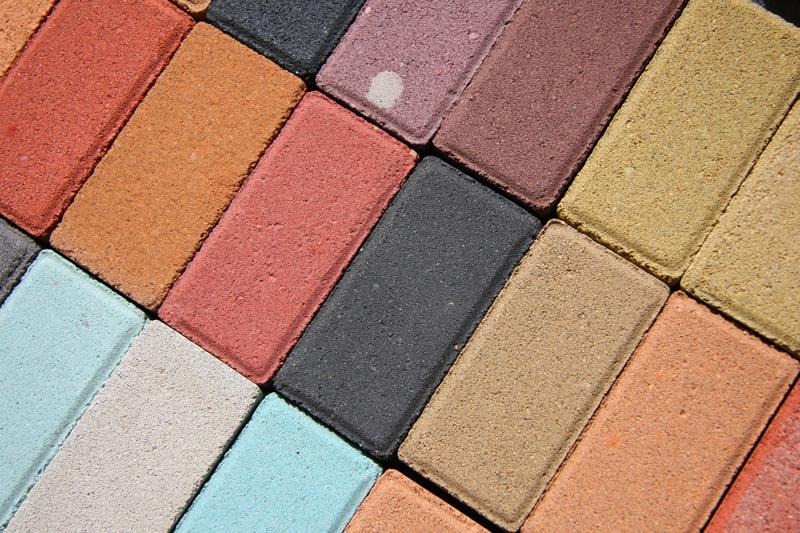 echantillon beton colore
