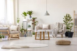salon avec sol beige