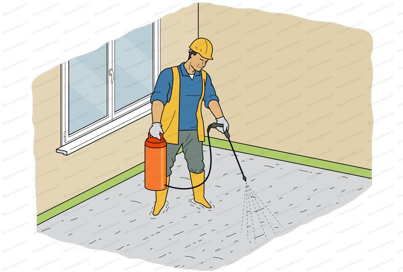 application produit cure beton