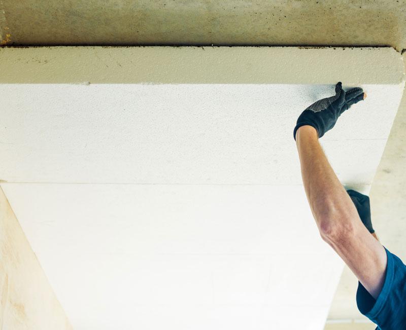 polystyrene isolation plafond