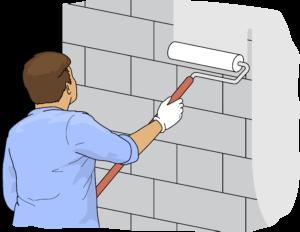 Peinture mur parpaing